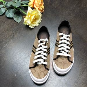 Coach brown sneakers